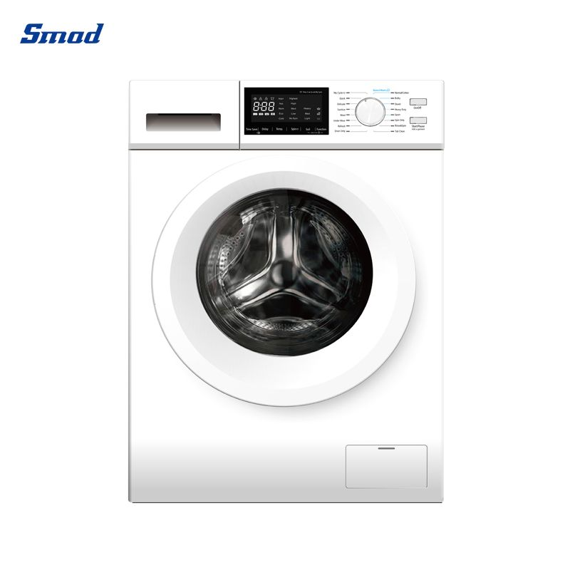Smad front load washer machines are often gentler on fabrics and quieter