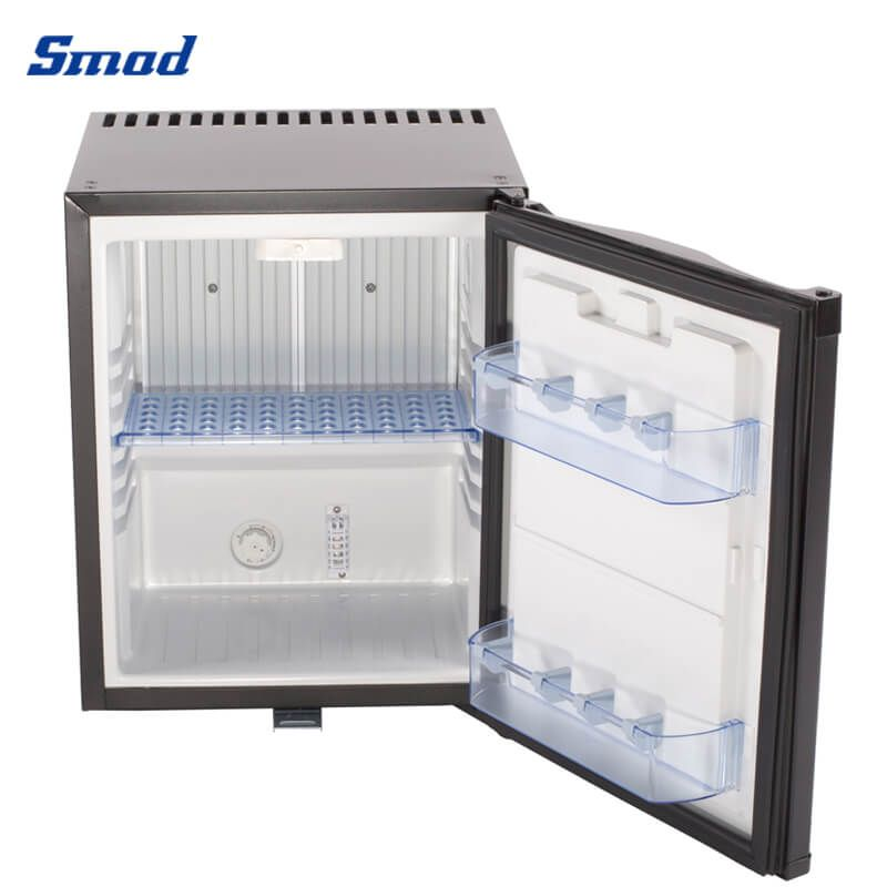 Smad no noise single door hotel refrigerator with LED light for bedroom