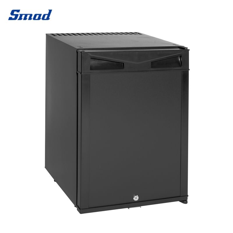 Smad 30L foaming door mini absorption fridge black color and with lock.