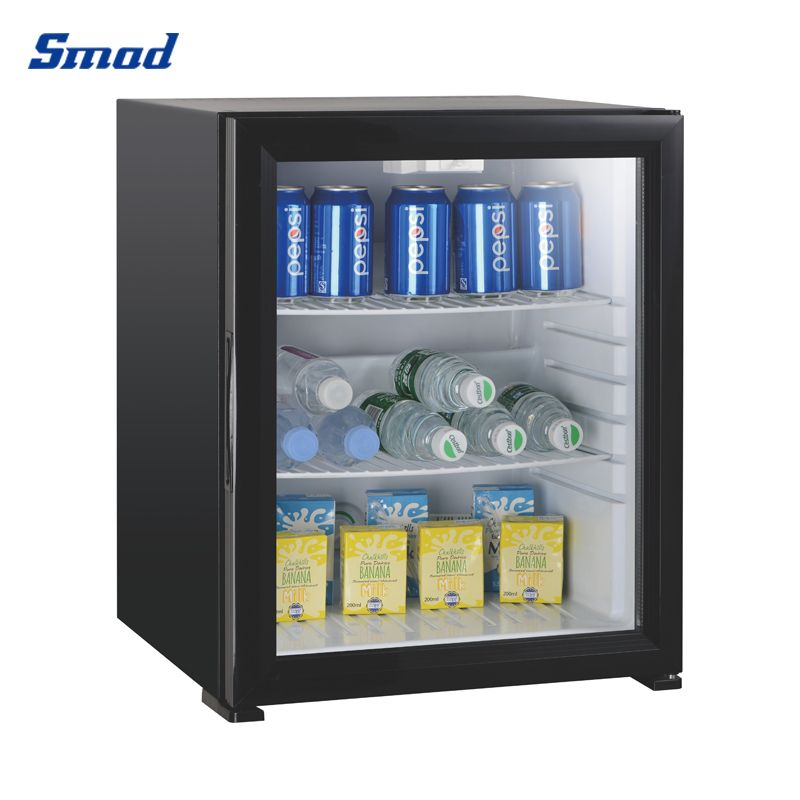 Smad 60L mini absorption refrigerator fridge with glass door for camping with lock cooler for drinks counter top