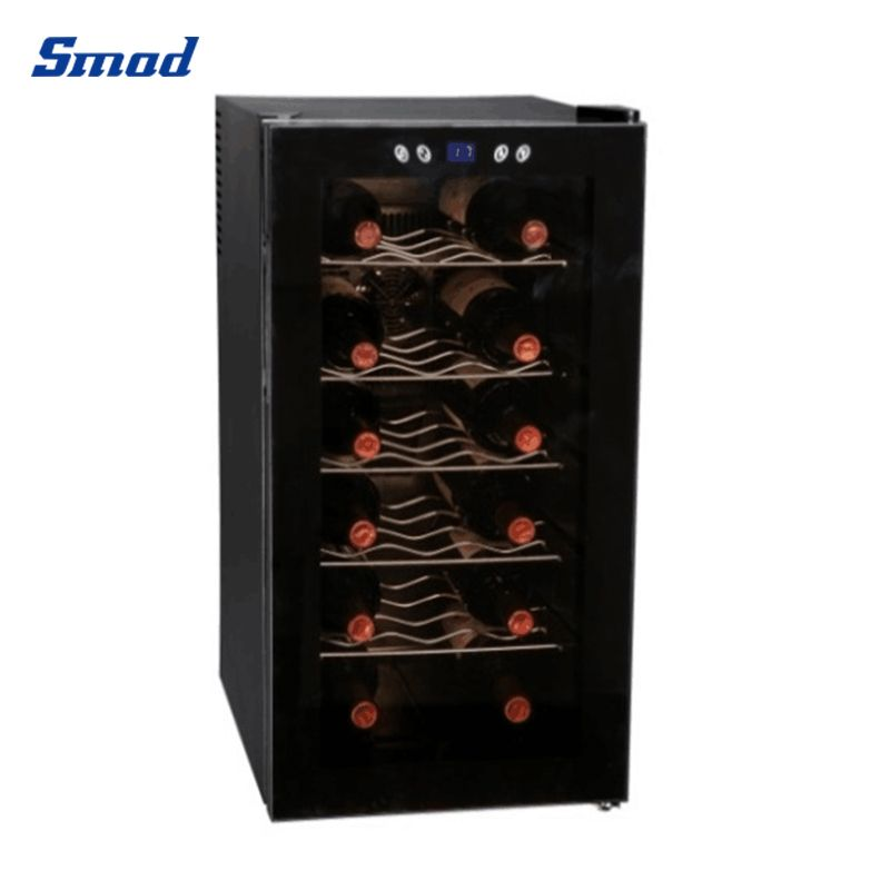 Smad 52L upright single door small wine cellar for home with 18 bottles capacity