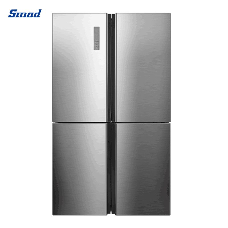Smad 640L stainless steel 4 door refrigerator with CE with four door and side by side design