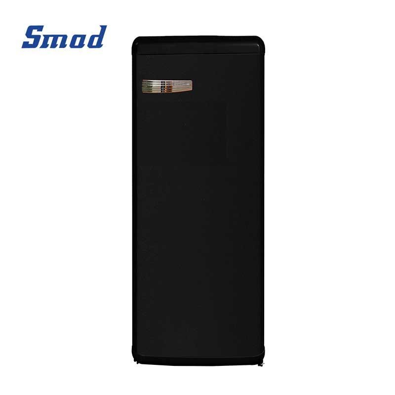 Smad 225L retro single door compact colorful refrigerator in black