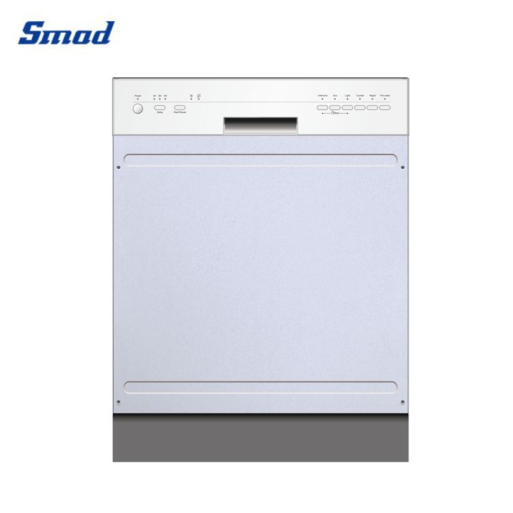 The built in dishwasher has stainless steel exterior in Smad .