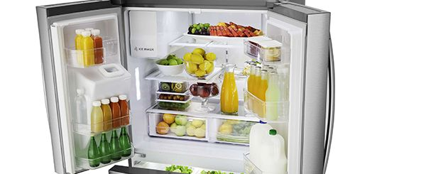 Smad best french door refrigerator has large capacity and super large available
