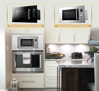 The Benefits of a Built-In Microwave Oven