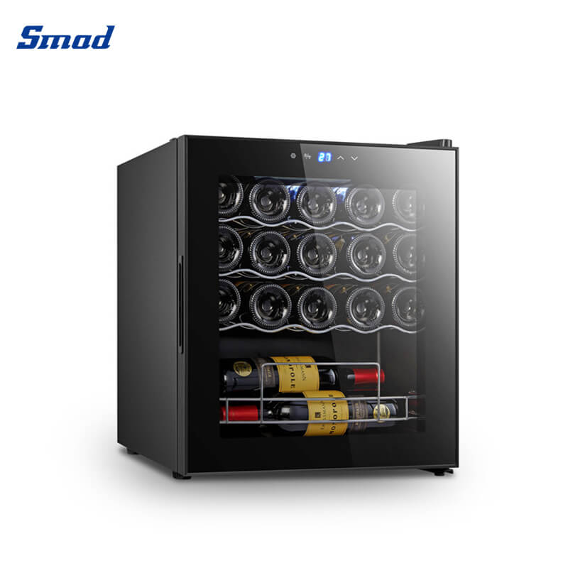 Smad 19 bottles compressor system wine cooler at home with digital control