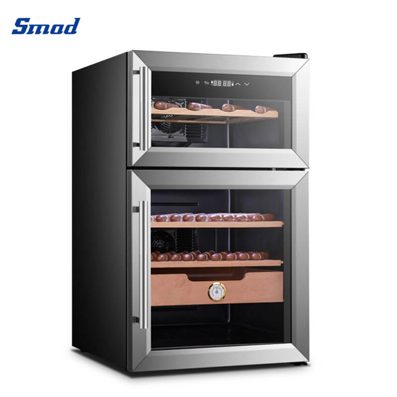 Smad 24 bottles dual zone home use wine cooler fridge double door
