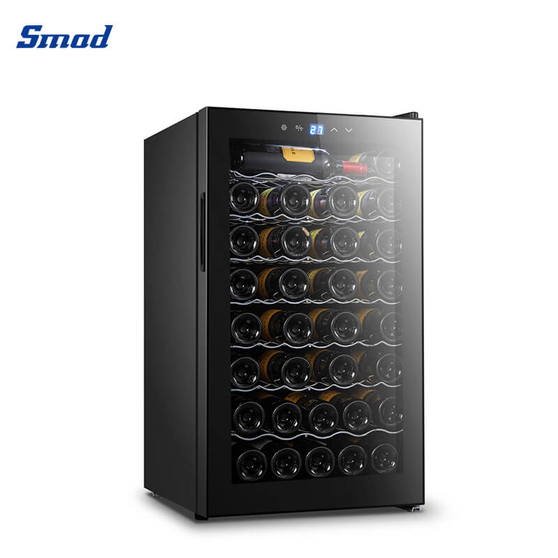 Smad 28 bottles touch control compressor wine cooler fridge with touch control